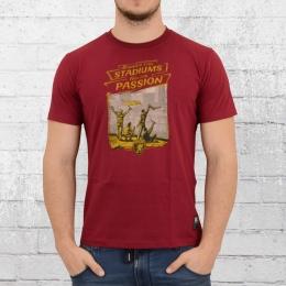 PG Wear T-Shirt Männer Stadion Verbot dunkel rot maroon