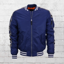 Pit Bull West Coast College Bomber Jacke Sand Drift blau