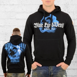 Pit Bull West Coast Herren Kapuzensweater Blue Eyed Devil schwarz