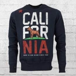 Pit Bull West Coast Herren Sweatshirt California Flag blau