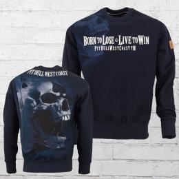 Pit Bull West Coast Männer Sweater Ace of Spades blau