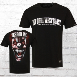Pit Bull West Coast Männer T-Shirt Terror Clown schwarz