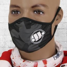 Pit Bull West Coast Maske Fight Against schwarz grau splintertarn