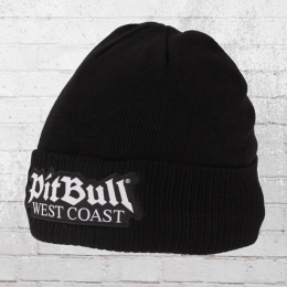 Pit Bull West Coast One Tone Old Logo Beanie gefüttert schwarz