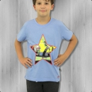 Alpha Industries Kinder T-Shirt Buck Danny Comic Star light blue