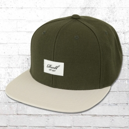 Reell Hat Pitchout 6 Panel Snapback Cap olive grey abcb2767ca73