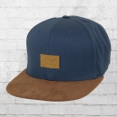 Reell Snapback Mütze Suede Cap dunkelblau braun