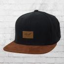 Reell Suede Cap Mütze Snapback Kappe schwarz braun