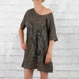 Religion Clothing Oversize Element Tee Kleid vintage grau