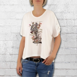 Religion Connection Tee Frauen Oversize T-Shirt weiss