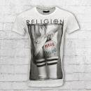 Religion Fussball Herren T-Shirt Made in England weiss