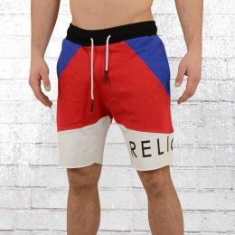 Religion Herren Sweat Shorts Block Stripe blau rot weiss