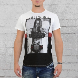 Religion Herren T-Shirt Boxing Fight Club FIF 07 weiss