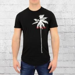 Religion Herren T-Shirt Mit Brusttasche Pocket Palm schwarz