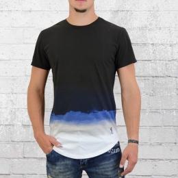Religion Herren T-Shirt Water Colour Fade Out schwarz blau weiss
