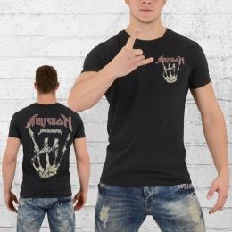 Religion Männer Rocker T-Shirt vintage schwarz