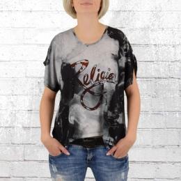 Religion Oversize Damen T-Shirt Pause Tee schwarz weiss