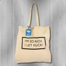 C like Zebra Tasche Rich Bag Jute Beutel Stoffbeutel natur