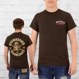 Rietveld Patch T-Shirt Herren braun