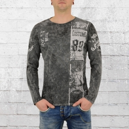 Rusty Neal Herren Langarm T-Shirt Heritage Customs anthrazit
