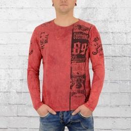Rusty Neal Herren Longsleeve T-Shirt Heritage Customs rot