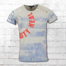 Rusty Neal T-Shirt Front All Over blau