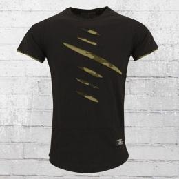 Rusty Neal T-Shirt Herren Slitted schwarz camo