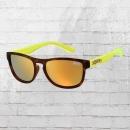 Superdry SDS Rockstar 152 Sonnen Brille dunkelbraun neongelb