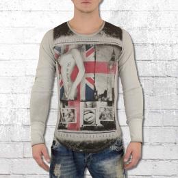 Trueprodigy Longsleeve Männer Langarm T-Shirt London grau