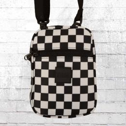 Urban Classics Crossbody Handtasche Festival Bag schwarz weiss kariert