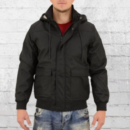 Urban Classics Herren Winter Jacke Heavy Hooded schwarz