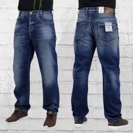 Viazoni Mens Jeans Pant Carlos Loose Fit dark blue