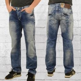 Viazoni Männer Jeans Hose Hugo Lima blau gewaschen