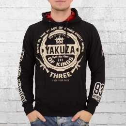 Yakuza Herren Kapuzen Pullover Trade Kings Hoody schwarz