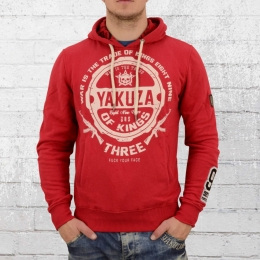 Yakuza Herren Kapuzensweater Trade Kings Hoody rot