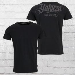 Yakuza Herren T-Shirt Basic Line EMB schwarz