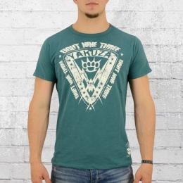Yakuza Herren T-Shirt Daily Use TSB 8017 petrolblau
