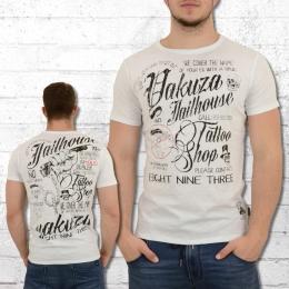Yakuza Herren T-Shirt Jailhouse weiss