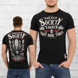 Yakuza Herren T-Shirt Violent Society schwarz