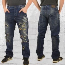 Yakuza Jeans Hose Skeleton Loose medium blau