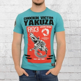 Yakuza Männer T-Shirt Chocking Victim blau