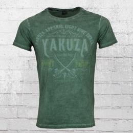 Yakuza Männer T-Shirt Fight Faith 9010 grün