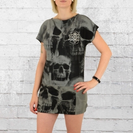 Yakuza Mini Kleid Skull schwarz grau