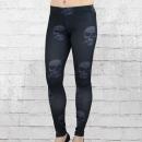 Yakuza Premium Damen Leggings GL 4 Skulls schwarz