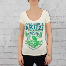 Yakuza Premium Damen T-Shirt Dozen Rebels weiss