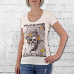 Yakuza Premium Damen T-Shirt Skull Bird weiss