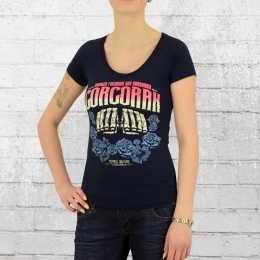 Yakuza Premium Frauen T-Shirt Corcoran 2233 dunkelblau