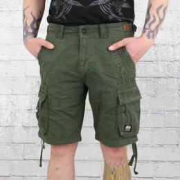 Yakuza Premium Herren Cargo Short dunkelgrün