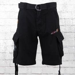 Yakuza Premium Herren Cargo Shorts schwarz
