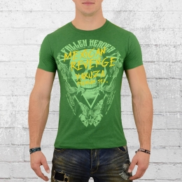 Yakuza Premium Herren T-Shirt Mexican Revenge grün